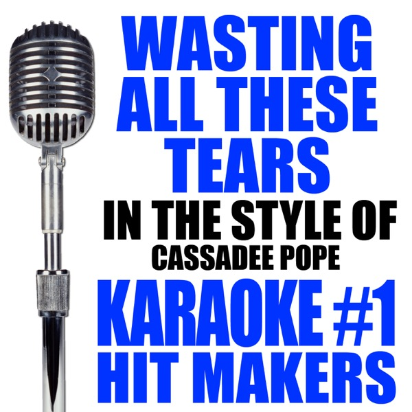 Wasting All These Tears Karaoke Version In the Style of Cassadee Pope - Single Karaoke 1 Hit Makers CD cover