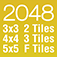 2048 PRO with Extra Challenges - 3x3, 4x4, 5x5, Merge 2 Tiles, Merge 3 Tiles, Merge Fibonacci Tiles