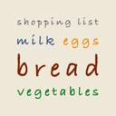 Einkaufsliste - Einkaufszettel