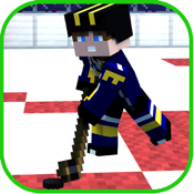 Block Hockey Cup Multiplayer with skin exporter for Minecraft