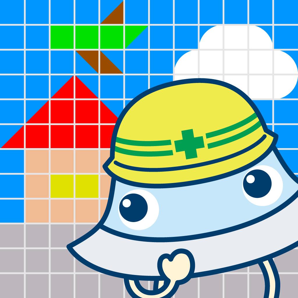 ずけいこうじょう 図形感覚を楽しく育む子供向け図形遊びアプリ
