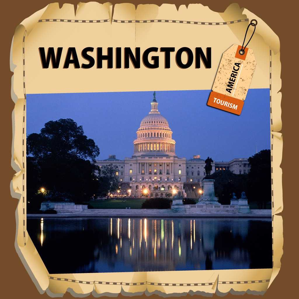 Washington Travel Guide - Offline Map