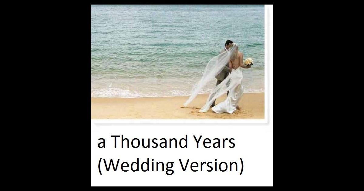 A Thousand Years Instrumental Wedding Version Single