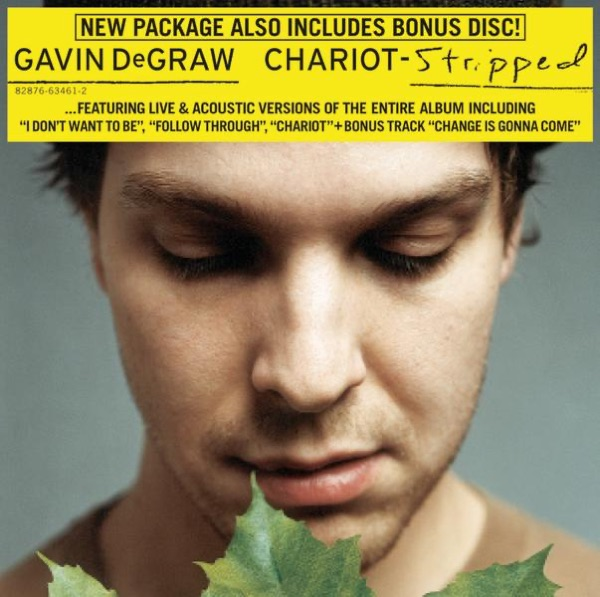 Chariot - Stripped Gavin DeGraw CD cover