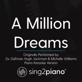 Download Sing2Piano - A Million Dreams (Originally Performed by Ziv Zaifman, Hugh Jackman & Michelle Williams) [Piano Karaoke Version]