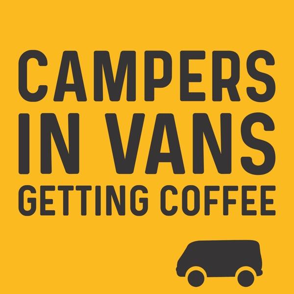 Campers In Vans Getting Coffee