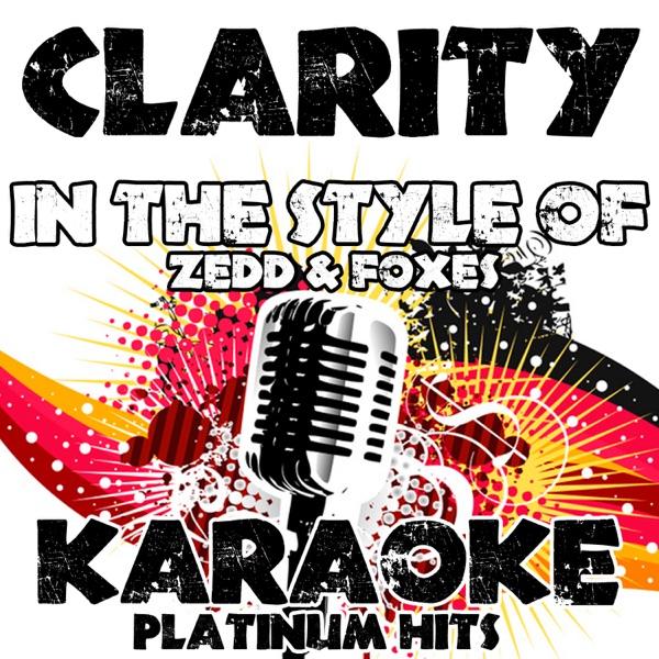 Clarity Album Cover by Karaoke Platinum Hits