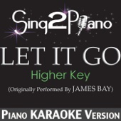 Let It Go (Higher Key) [Originally Performed by James Bay] [Piano Karaoke Version]