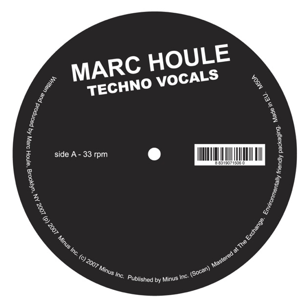 Techno Vocals - EP by Marc Houle