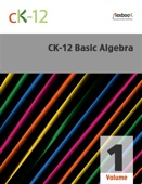 CK-12 Basic Algebra, Volume 1