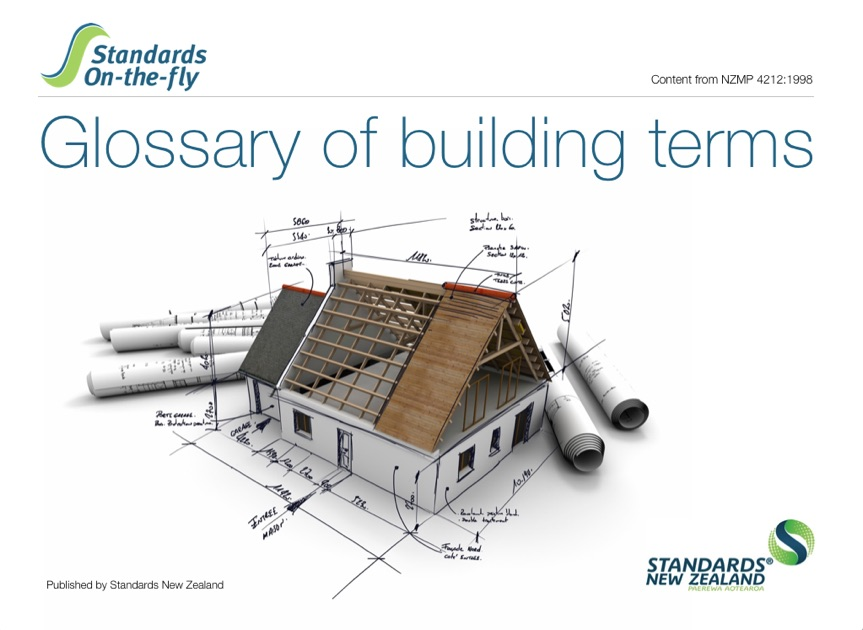 Glossary of building terms by standards new zealand on ibooks for Building terms with pictures