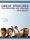Great Speeches For Criticism And Analysis 5th Edition