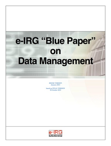 e-IRG Blue Paper on Data Management
