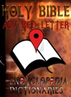 Holy Bible ASV Red Letter Edition With Encyclopedia And Dictionaries