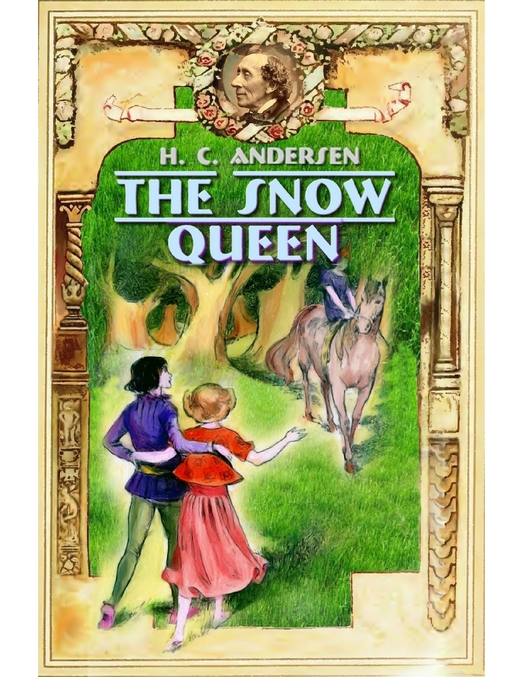Illustrated Book Cover Queen ~ The snow queen illustrated by blago kirof h c