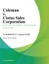 Coleman V Cintas Sales Corporation