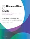 U Hileman-Rizzo V Krysty