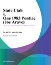 State Utah V One 1983 Pontiac Joe Arave