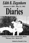 Edith B Ziegenhorn Diaries A Young Girls Life In Claytonville Illinois - 1914 To 1917