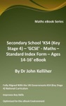 Secondary School KS4 Key Stage 4  GCSE - Maths  Standard Index Form  Ages 14-16 EBook