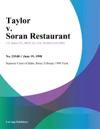 Taylor V Soran Restaurant