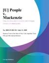 People V Mackenzie