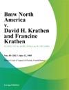 Bmw North America V David H Krathen And Francine Krathen