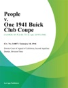 People V One 1941 Buick Club Coupe