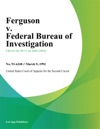 Ferguson V Federal Bureau Of Investigation