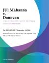 U Mahanna V Donovan
