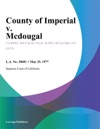 County Of Imperial V Mcdougal