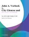 John A Vorbeck V City Glencoe And