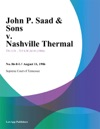 John P Saad  Sons V Nashville Thermal
