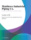 Matthews Industrial Piping Co
