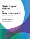 Gayle August Hudson V State Alabama Ex