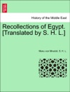 Recollections Of Egypt Translated By S H L
