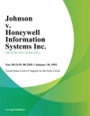 Johnson V Honeywell Information Systems Inc