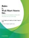 Bales V Wal-Mart Stores Inc
