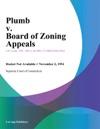 Plumb V Board Of Zoning Appeals