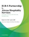 H-B-S Partnership V Aircoa Hospitality Services