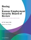 Boeing V Kansas Employment Security Board Of Review