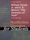 A Study Guide For William Strunk Jr And E B Whites The Elements Of Style