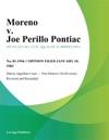 Moreno V Joe Perillo Pontiac