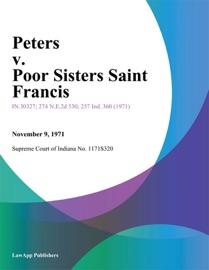 PETERS V. POOR SISTERS SAINT FRANCIS