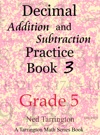 Decimal Addition And Subtraction Practice Book 3 Grade 5