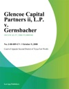 Glencoe Capital Partners II LP V Gernsbacher