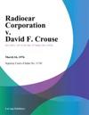 Radioear Corporation V David F Crouse