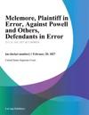 Mclemore Plaintiff In Error Against Powell And Others Defendants In Error