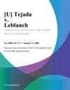 U Tejada V Leblanch