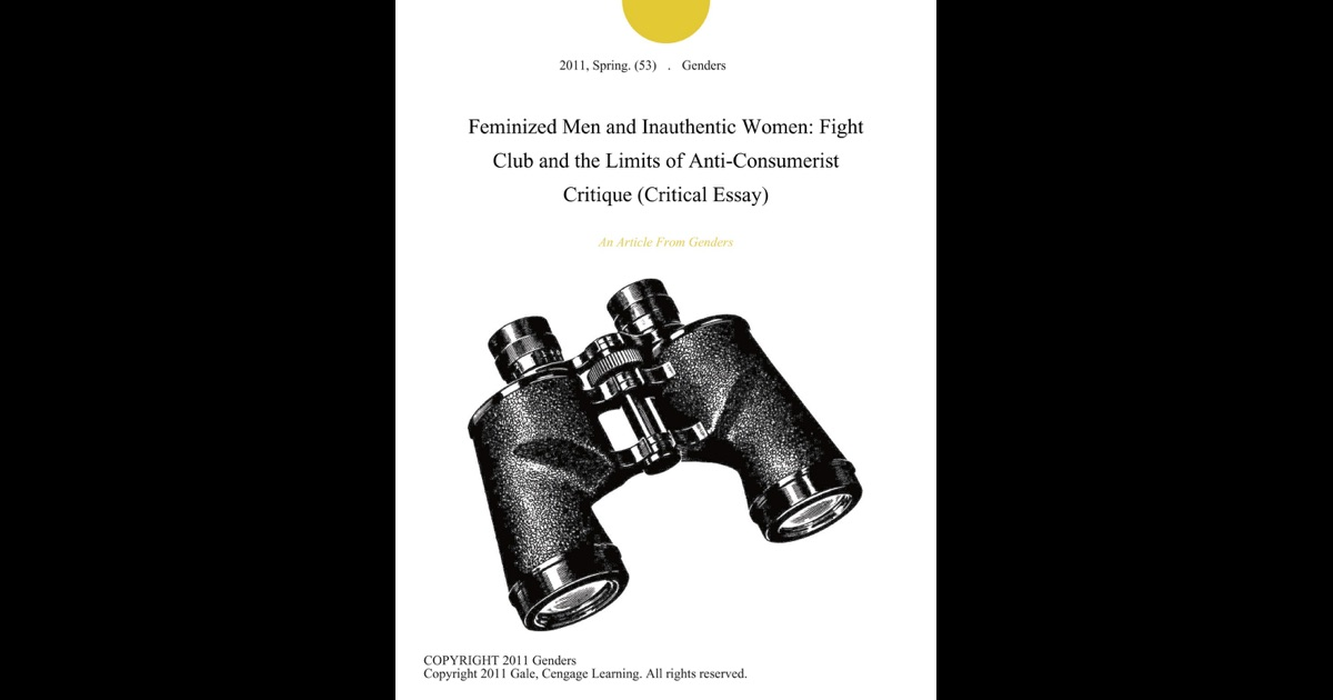 essays on fight club masculinity